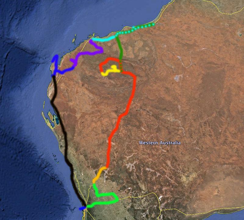WA trip map